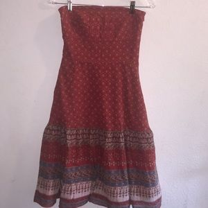 Banana Republic Strapless Boho Summer Dress